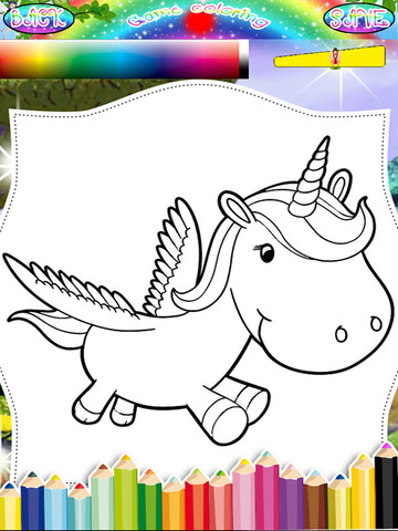 mia and me ios app kids coloring unicorn and mia edition 2 - Kids Coloring App
